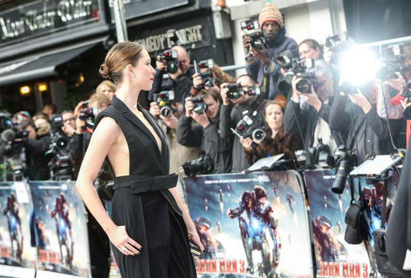 "<div class=""meta ""><span class=""caption-text "">Actor Rebecca Hall at the European tour of 'Marvel's Iron Man 3' - Special Screening on April 18, 2013 at Odeon Leicester Square, London, England. (JamesGillham/StingMedia)</span></div>"
