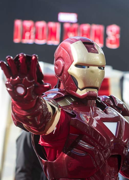 Iron Man at the European tour of &#39;Marvel&#39;s Iron Man 3&#39; - Special Screening on April 18, 2013 at Odeon Leicester Square, London, England. <span class=meta>(JamesGillham&#47;StingMedia)</span>
