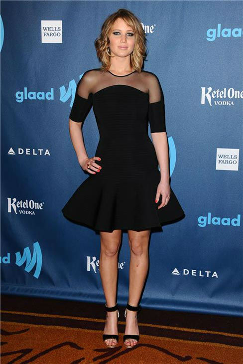 "<div class=""meta ""><span class=""caption-text "">Jennifer Lawrence appears at the 24th Annual GLAAD Media Awards on April 20, 2013. (Sara De Boer/startraksphoto.com)</span></div>"