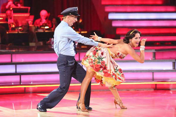 Actor and comedian Andy Dick and his partner Sharna Burgess dance the Samba on week six of &#39;Dancing With The Stars&#39; on April 22, 2013. They received 18 out of 30 points from the judges. <span class=meta>(ABC Photo&#47; Adam Taylor)</span>