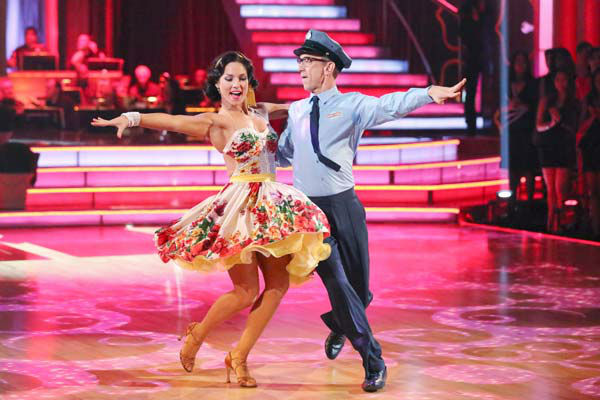 Actor and comedian Andy Dick and his partner Sharna Burgess dance the Samba on week six of 'Dancing With The Stars' on April 22, 2013.