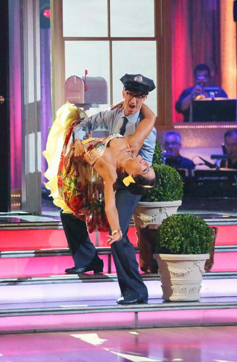 "<div class=""meta image-caption""><div class=""origin-logo origin-image ""><span></span></div><span class=""caption-text"">Actor and comedian Andy Dick and his partner Sharna Burgess dance the Samba on week six of 'Dancing With The Stars' on April 22, 2013. They received 18 out of 30 points from the judges. (ABC Photo/ Adam Taylor)</span></div>"