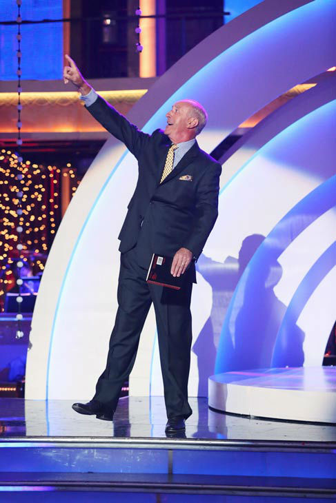 Judge Len Goodman appears on 'Dancing With The Stars' on April 22, 2013.