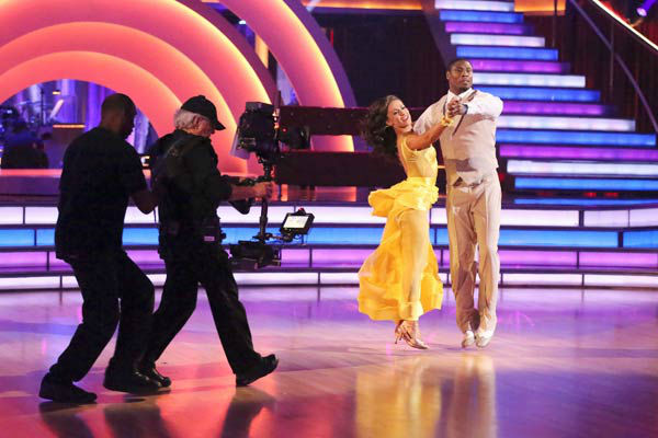 "<div class=""meta image-caption""><div class=""origin-logo origin-image ""><span></span></div><span class=""caption-text"">NFL star Jacoby Jones and regular partner Karina Smirnoff dance the Quickstep on week six of 'Dancing With The Stars' on April 22, 2013. They received 23 out of 30 points from the judges. (ABC Photo/ Adam Taylor)</span></div>"