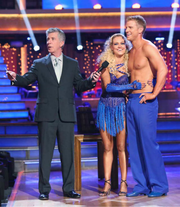 "<div class=""meta image-caption""><div class=""origin-logo origin-image ""><span></span></div><span class=""caption-text"">Former 'Bachelor' star Sean Lowe and his partner Peta Murgatroyd dance the Samba on week 6 of 'Dancing With The Stars' on April 22, 2013. They received 21 out of 30 points. (ABC Photo/ Adam Taylor)</span></div>"
