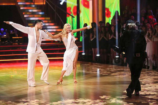 "<div class=""meta image-caption""><div class=""origin-logo origin-image ""><span></span></div><span class=""caption-text"">Boxer Victor Ortiz and his partner Lindsay Arnold received 18 out of 30 points from the judges for their Rumba during week six of 'Dancing With The Stars,' which aired on April 22, 2013. (ABC Photo/ Adam Taylor)</span></div>"