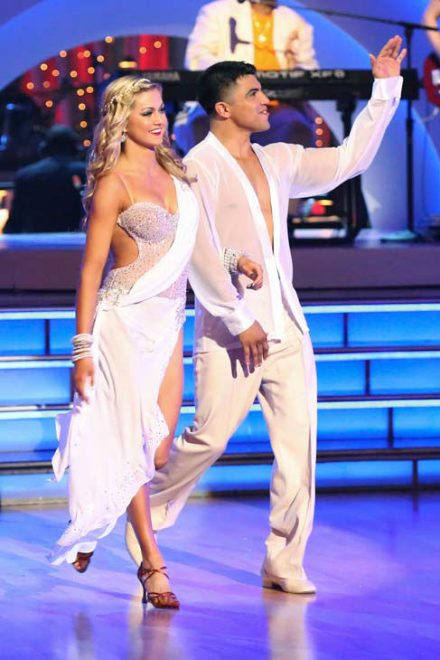 Victor Ortiz appears on 'Dancing With The Stars' on April 22, 2013.