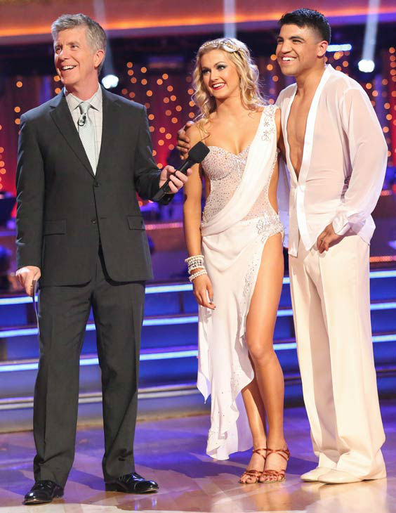 "<div class=""meta ""><span class=""caption-text "">Boxer Victor Ortiz and his partner Lindsay Arnold received 18 out of 30 points from the judges for their Rumba during week six of 'Dancing With The Stars,' which aired on April 22, 2013. (ABC Photo/ Adam Taylor)</span></div>"