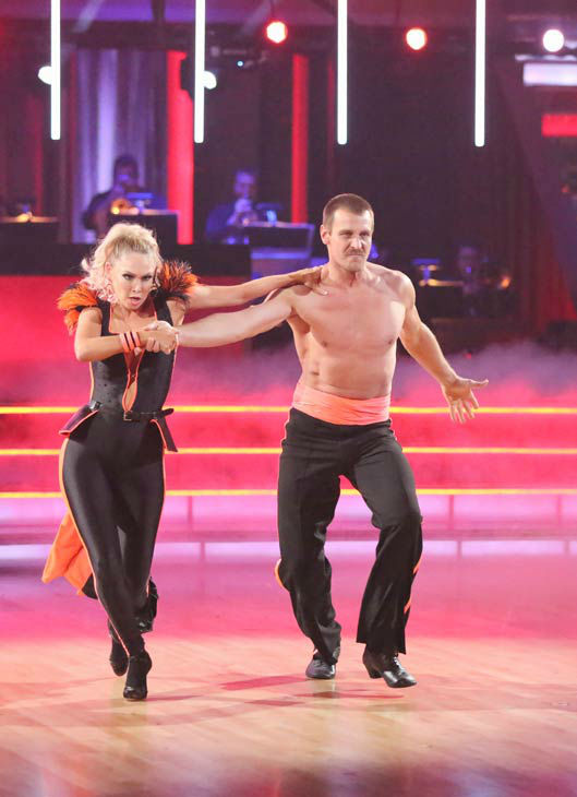 "<div class=""meta ""><span class=""caption-text "">Actor Ingo Rademacher and partner Kym Johnson perform a team Paso Doble dance on week six of 'Dancing With The Stars,' which aired on April 22, 2013. They received a score of 22 out of 30 from the judges. (ABC Photo/ Adam Taylor)</span></div>"
