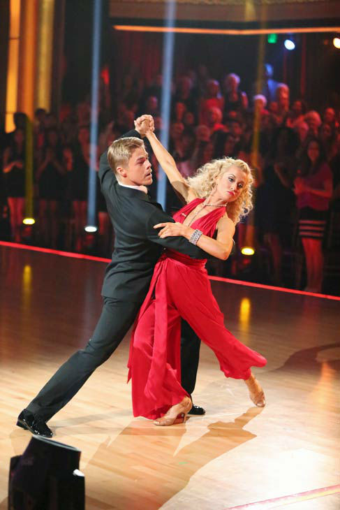 Kellie Pickler and partner Derek Hough received 29 out of 30 points from the judges for their Quickstep dance during week six of &#39;Dancing With The Stars,&#39; which aired on April 22, 2013.  <span class=meta>(ABC Photo&#47; Adam Taylor)</span>