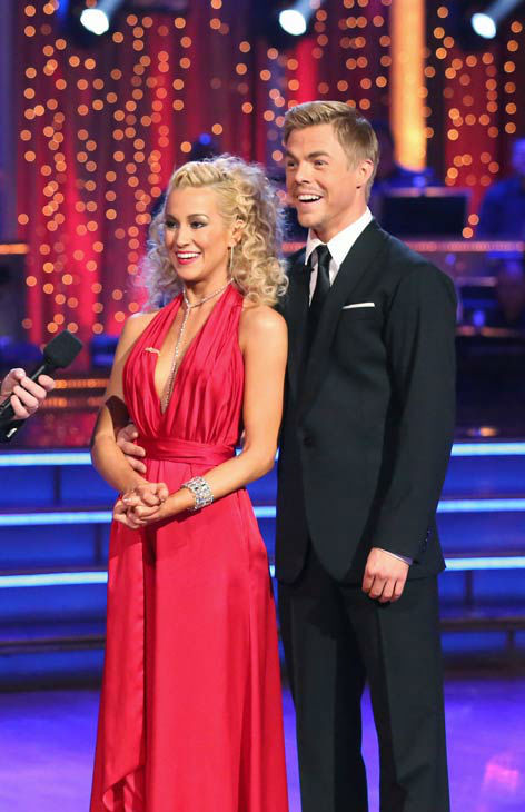 Kellie Pickler and partner Derek Hough received 29 out of 30 points from the judges for their Quickstep dance during week six of 'Dancing With The Stars,' which aired on April 22, 2013.