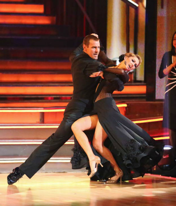 "<div class=""meta ""><span class=""caption-text "">Actor Ingo Rademacher and partner Kym Johnson dance the Tango on week six of 'Dancing With The Stars' on April 22, 2013. They received 24 out of 30 points from the judges. (ABC Photo/ Adam Taylor)</span></div>"