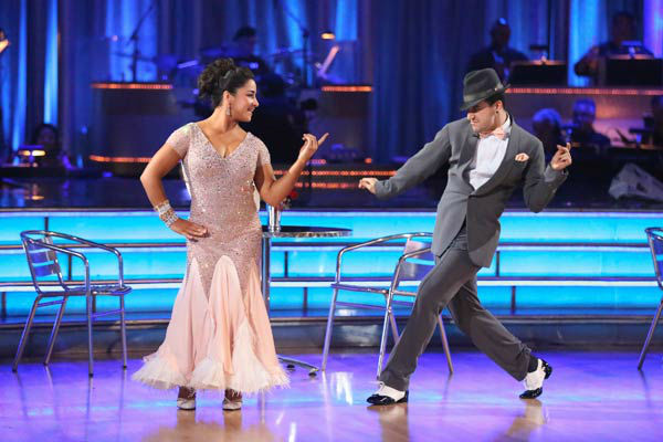 "<div class=""meta image-caption""><div class=""origin-logo origin-image ""><span></span></div><span class=""caption-text"">Olympic gymnast Aly Raisman and her partner Mark Ballas dance the Foxtrot on week six of 'Dancing With The Stars' on April 22, 2013. They received 27 out of 30 points from the judges. (ABC Photo/ Adam Taylor)</span></div>"