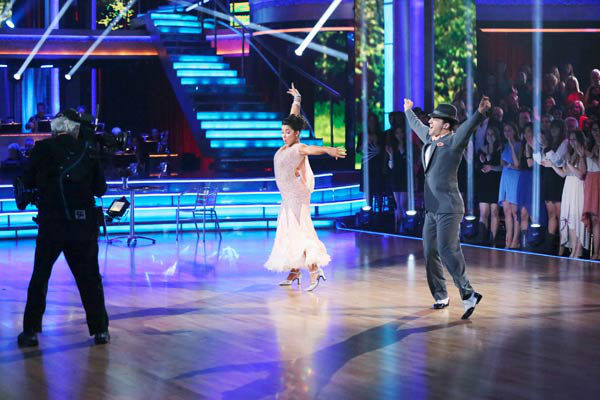 Olympic gymnast Aly Raisman and her partner Mark Ballas dance the Foxtrot on week six of &#39;Dancing With The Stars&#39; on April 22, 2013. They received 27 out of 30 points from the judges. <span class=meta>(ABC Photo&#47; Adam Taylor)</span>