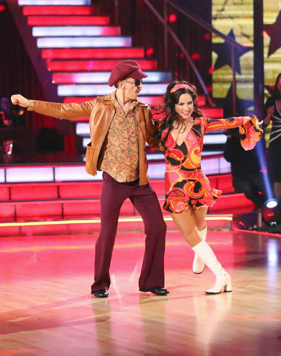 "<div class=""meta image-caption""><div class=""origin-logo origin-image ""><span></span></div><span class=""caption-text"">Actor and comedian Andy Dick and his partner Sharna Burgess perform a team Samba dance on week six of 'Dancing With The Stars,' which aired on April 22, 2013. They received a score of 25 out of 30 from the judges. (ABC Photo/ Adam Taylor)</span></div>"