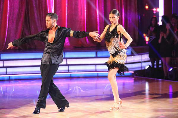 &#39;Shake It Up&#39; actress Zendaya and partner Val Chmerkovskiy dance the Cha Cha Cha on week six of &#39;Dancing With The Stars&#39; on April 22, 2013. They received 29 out of 30 points from the judges. <span class=meta>(ABC Photo&#47; Adam Taylor)</span>