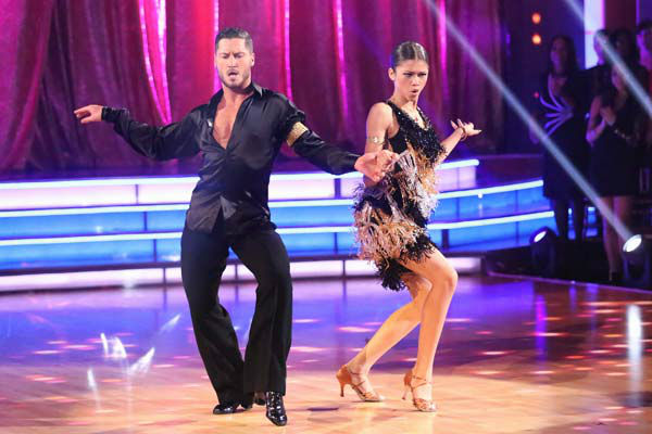 "<div class=""meta ""><span class=""caption-text "">'Shake It Up' actress Zendaya and partner Val Chmerkovskiy dance the Cha Cha Cha on week six of 'Dancing With The Stars' on April 22, 2013. They received 29 out of 30 points from the judges. (ABC Photo/ Adam Taylor)</span></div>"