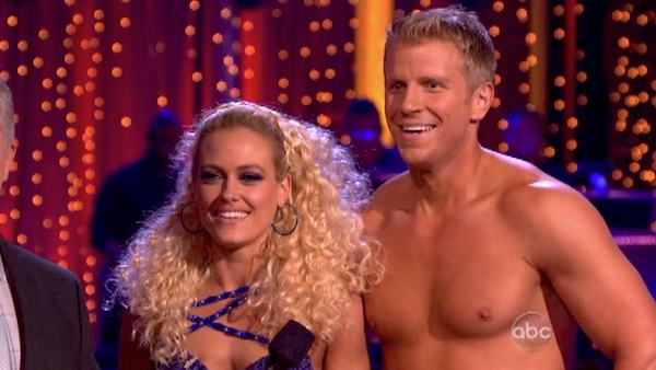 "<div class=""meta ""><span class=""caption-text "">Former 'Bachelor' star Sean Lowe and his partner Peta Murgatroyd received 21 out of 30 points from the judges for their Samba during week six of 'Dancing With The Stars,' which aired on April 22, 2013. (ABC Photo / Adam Taylor)</span></div>"