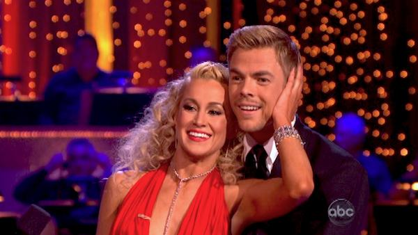 "<div class=""meta ""><span class=""caption-text "">Kellie Pickler and partner Derek Hough received 29 out of 30 points from the judges for their Quickstep dance during week six of 'Dancing With The Stars,' which aired on April 22, 2013. (ABC Photo / Adam Taylor)</span></div>"
