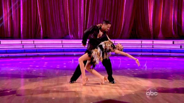 "<div class=""meta ""><span class=""caption-text "">'Shake It Up' actress Zendaya and partner Val Chmerkovskiy dance the Cha Cha Cha on week six of 'Dancing With The Stars' on April 22, 2013. They received 29 out of 30 points from the judges. (ABC Photo / Adam Taylor)</span></div>"