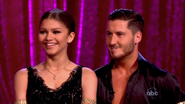"<div class=""meta ""><span class=""caption-text "">'Shake It Up' actress Zendaya and partner Val Chmerkovskiy danced the Cha Cha Cha on week six of 'Dancing With The Stars' on April 22, 2013. They received 29 out of 30 points. (ABC Photo / Adam Taylor)</span></div>"
