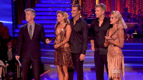 Ingo Rademacher beats Sean Lowe in a Rumba dance-off to earn three extra points from the judges on week seven of &#39;Dancing With The Stars&#39; on April 29, 2013. <span class=meta>(ABC Photo &#47; Adam Taylor)</span>
