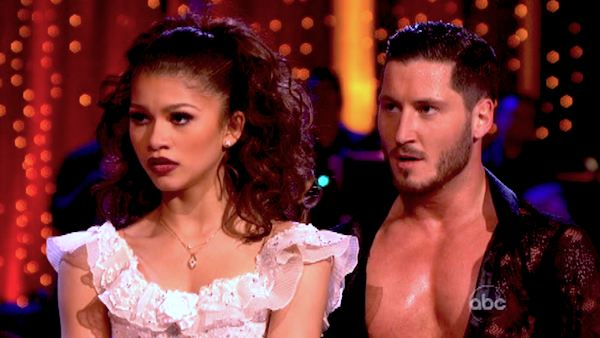 "<div class=""meta ""><span class=""caption-text "">'Shake It Up' actress Zendaya and partner Val Chmerkovskiy dance the Paso Doble on week seven of 'Dancing With The Stars' on April 29, 2013. They received 27 out of 30 points from the judges. (ABC Photo/ Adam Taylor)</span></div>"