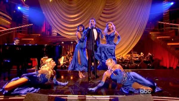 "<div class=""meta image-caption""><div class=""origin-logo origin-image ""><span></span></div><span class=""caption-text"">Michael Buble performs his song 'Come Dance with Me' from his new album, 'To Be Loved,' on 'Dancing With The Stars: The Results Show' on April 30, 2013. (ABC/Adam Taylor)</span></div>"