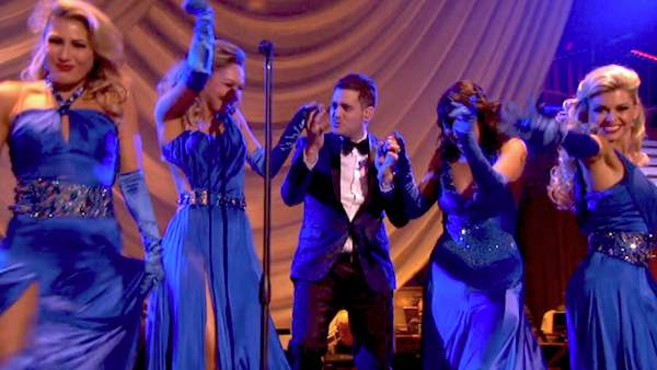 "<div class=""meta ""><span class=""caption-text "">Michael Buble performs his song 'Come Dance with Me' from his new album, 'To Be Loved,' on 'Dancing With The Stars: The Results Show' on April 30, 2013. (ABC/Adam Taylor)</span></div>"