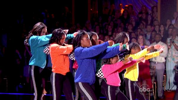 Members of the Camden Sophisticated Sisters, an organization that provides young women an opportunity to learn discipline in drill team competition, dance in the &#39;AT&#38;T Spotlight Performance&#39; on &#39;Dancing With The Stars: The Results Show&#39; on April 30, 2013.  <span class=meta>(ABC&#47;Adam Taylor)</span>