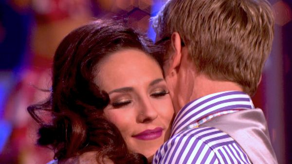"<div class=""meta image-caption""><div class=""origin-logo origin-image ""><span></span></div><span class=""caption-text"">Actor and comedian Andy Dick and his partner Sharna Burgess react to their elimination on 'Dancing With The Stars: The Results Show' on April 30, 2013. The pair received 17 out of 30 points from the judges for their Rumba on week 7 of 'Dancing With The Stars,' which aired on April 29, 2013.  (ABC Photo / Adam Taylor)</span></div>"