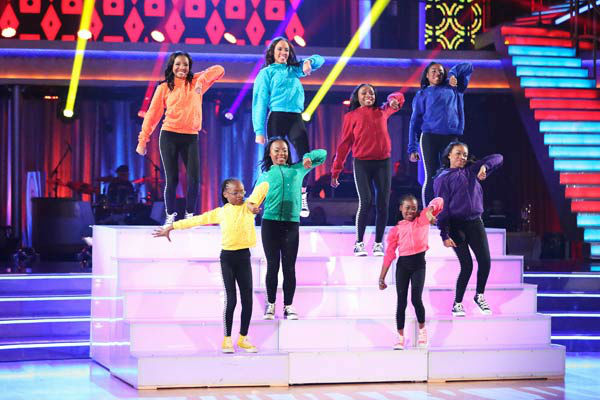 Members of the Camden Sophisticated Sisters, an organization that provides young women an opportunity to learn discipline in drill team competition, dance in the &#39;AT&#38;T Spotlight Performance&#39; on &#39;Dancing With The Stars: The Results Show&#39; on April 30, 2013. <span class=meta>(ABC Photo&#47; Adam Taylor)</span>