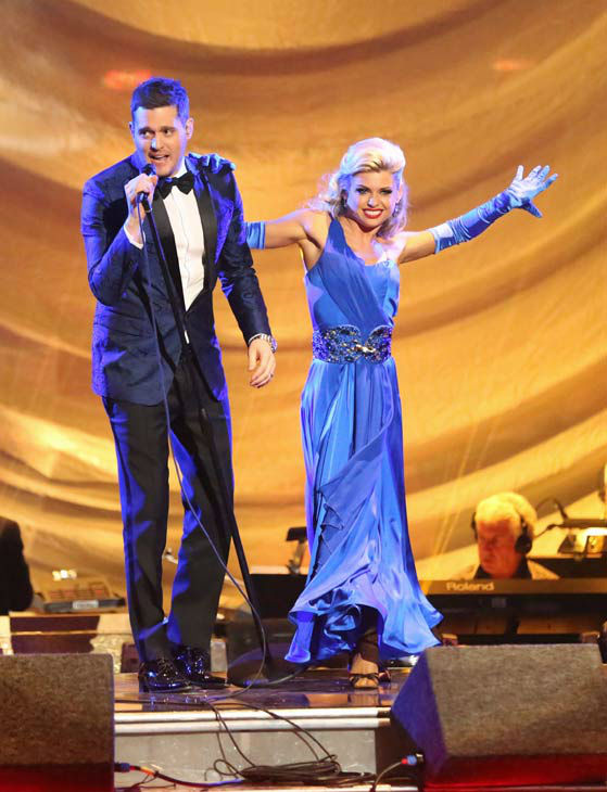 Michael Buble performs his song 'Come Dance with Me' from his new album, 'To Be Loved,' on 'Dancing With The Stars: The Results Show' on April 30, 2013.