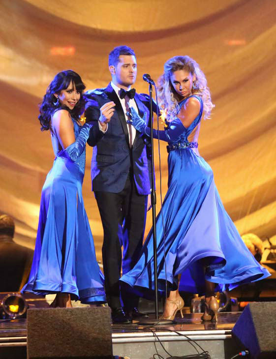 "<div class=""meta image-caption""><div class=""origin-logo origin-image ""><span></span></div><span class=""caption-text"">Michael Buble performs his song 'Come Dance with Me' from his new album, 'To Be Loved,' on 'Dancing With The Stars: The Results Show' on April 30, 2013. (ABC Photo/ Adam Taylor)</span></div>"