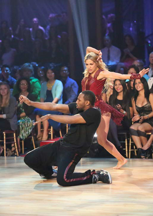 "<div class=""meta ""><span class=""caption-text "">'Macy's Stars of Dance' troupe performs its fourth installment, which was choreographed by Allison Holker and Stephen 'tWitch' Boss, on 'Dancing With The Stars: The Results Show' on April 30, 2013. The dance is accompanied by violinist and YouTube sensation Lindsey Stirling. (ABC Photo/ Adam Taylor)</span></div>"