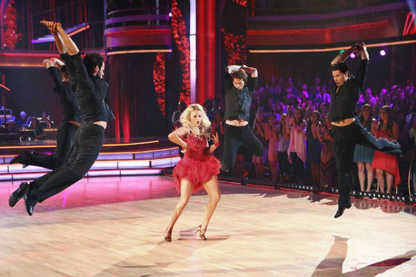 &#39;Macy&#39;s Stars of Dance&#39; troupe performs its fourth installment, which was choreographed by Allison Holker and Stephen &#39;tWitch&#39; Boss, on &#39;Dancing With The Stars: The Results Show&#39; on April 30, 2013. The dance is accompanied by violinist and YouTube sensation Lindsey Stirling. <span class=meta>(ABC Photo&#47; Adam Taylor)</span>