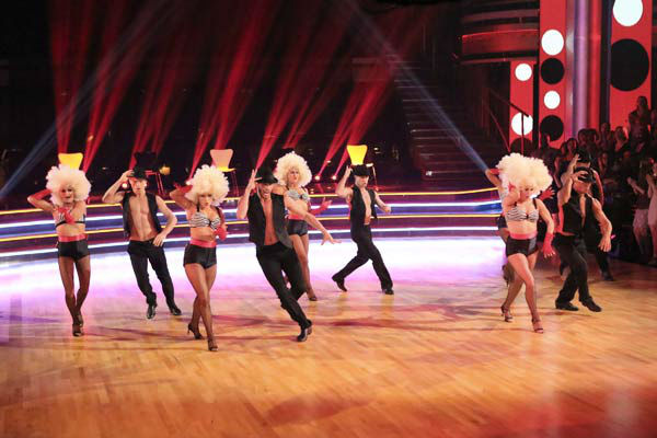 "<div class=""meta image-caption""><div class=""origin-logo origin-image ""><span></span></div><span class=""caption-text"">The troupe performs an ensemble dance on 'Dancing With The Stars: The Results Show' on April 30, 2013. (ABC Photo/ Adam Taylor)</span></div>"