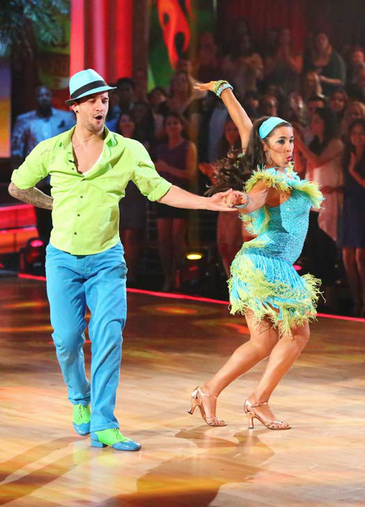 Olympic gymnast Aly Raisman and her partner Mark Ballas performed an encore of their Salsa routine on &#39;Dancing With The Stars: The Results Show&#39; on April 30, 2013. They had earned a a score of 29 out of 30 points for their performance on April 29, 2013. <span class=meta>(ABC Photo&#47; Adam Taylor)</span>