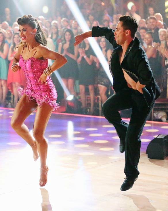 "<div class=""meta ""><span class=""caption-text "">The Pros perform an ensemble dance on 'Dancing With The Stars: The Results Show' on April 30, 2013. (ABC Photo/ Adam Taylor)</span></div>"