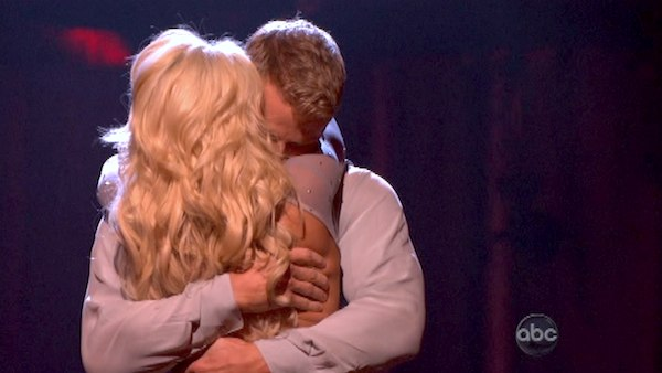 "<div class=""meta ""><span class=""caption-text "">Former 'Bachelor' star Sean Lowe and his partner Peta Murgatroyd react to being safe from elimination on 'Dancing With The Stars: The Results Show' on April 30, 2013. The pair received 24 out of 30 points from the judges for their Rumba on week seven of 'Dancing With The Stars,' which aired on April 29, 2013. (ABC Photo/ Adam Taylor)</span></div>"
