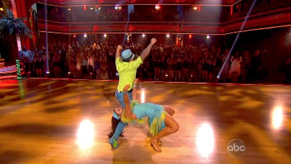 Olympic gymnast Aly Raisman and her partner Mark Ballas performed an encore of their Salsa routine on &#39;Dancing With The Stars: The Results Show&#39; on April 30, 2013. They had earned a a score of 29 out of 30 points for their performance on April 29, 2013. <span class=meta>(ABC Photo &#47; Adam Taylor)</span>
