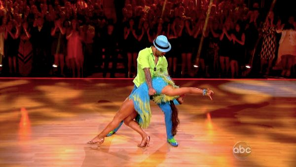"<div class=""meta ""><span class=""caption-text "">Olympic gymnast Aly Raisman and her partner Mark Ballas performed an encore of their Salsa routine on 'Dancing With The Stars: The Results Show' on April 30, 2013. They had earned a a score of 29 out of 30 points for their performance on April 29, 2013. (ABC Photo / Adam Taylor)</span></div>"