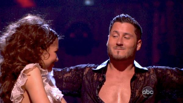 Zendaya and Val Chmerkovskiy react after being safe from elimination on &#39;Dancing With The Stars: The Results Show&#39; on April 30, 2013. The pair received 27 out of 30 points from the judges for their Paso Doble on week 7 of &#39;Dancing With The Stars,&#39; which aired on April 30, 2013. <span class=meta>(ABC Photo &#47; Adam Taylor)</span>