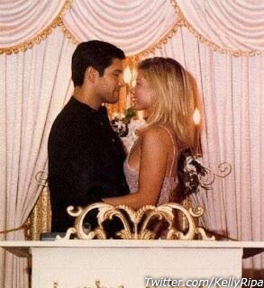 Kelly Ripa and Mark Consuelos appear in a 1996 photo Ripa posted on her Twitter account on May 1, 2013.