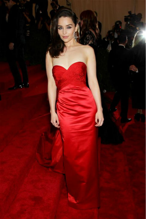 Emilia Clarke &#40;Daenerys Targaryen on &#39;Game Of Thrones&#39;&#41; appears at the PUNK: Chaos To Couture Costume Institute Gala at the Metropolitan Museum of Art in New York on May 6, 2013.  <span class=meta>(Marion Curtis &#47; Startraksphoto.com)</span>