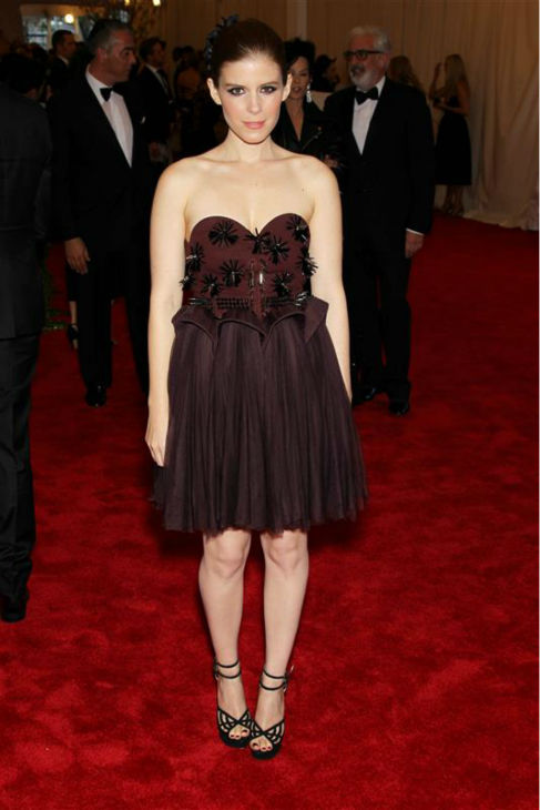 Kate Mara attends the PUNK: Chaos To Couture Costume Institute Gala at the Metropolitan Museum of Art in New York on May 6, 2013.  <span class=meta>(Marion Curtis &#47; Startraksphoto.com)</span>