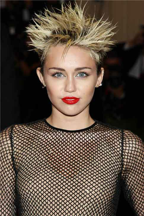 Miley Cyrus appears at the PUNK: Chaos to Couture Costume Institute Gala at the Metropolitan Museum of Art in New York City on May 6, 2013.