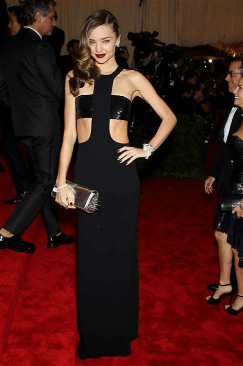 Miranda Kerr appears at the PUNK: Chaos To Couture Costume Institute Gala at the Metropolitan Museum of Art on May 6, 2013. <span class=meta>(Marion Curtis&#47;startraksphoto.com)</span>