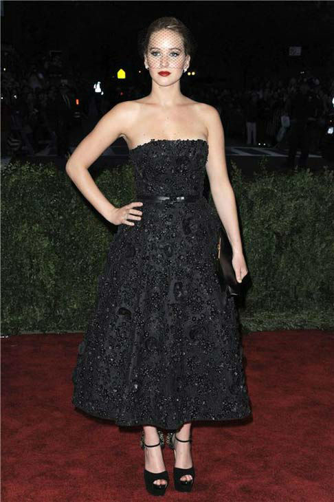 "<div class=""meta image-caption""><div class=""origin-logo origin-image ""><span></span></div><span class=""caption-text"">Jennifer Lawrence appears at the PUNK: Chaos To Couture Costume Institute Gala at the Metropolitan Museum of Art on May 6, 2013. (Bill Davila/startraksphoto.com)</span></div>"