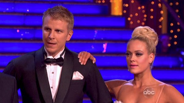 Former 'Bachelor' star Sean Lowe and his partner Peta Murgatroyd received 21 out of 30 points from the judges for their Tango during week eight of 'Dancing With The Stars,' which aired on May 6, 2013.